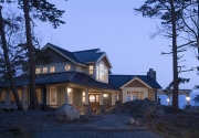 Pacific Northwest Island Cottage Custom Home