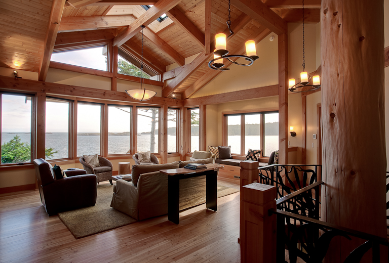 Bon Autumn Donavan Design  Pacific Northwest Island Retreat Living Room